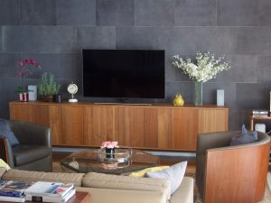 Leather wall covering boxer petrol